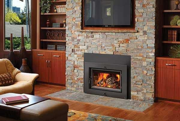 Interior Living Room with Lopi Fireplace